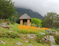 Gazebo στους βοτανικούς κήπους Kirstenbosch στοκ εικόνες