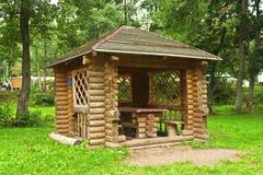 Gazebo в древесинах Стоковые Фото