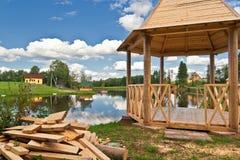 gazebo деревянный Стоковые Изображения