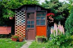 gazebo деревянный Стоковое Изображение