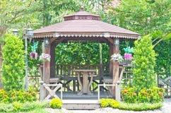 gazebo деревянный Стоковая Фотография RF