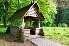 gazebo деревянный Стоковая Фотография