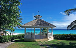 Gazebo. A gazebo to relax in Royalty Free Stock Images