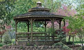 Gazebo. In the park stock photo