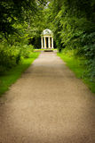 Gazebo. White gazebo standing alone in the park Stock Photography