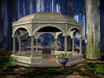 The gazebo. Deep in the woods is an old gazebo Royalty Free Stock Photography