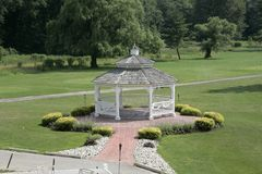 Gazebo. A Beautiful gazebo on a golf course Royalty Free Stock Photo