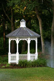 Gazebo. In Garden Stock Photography