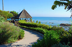 Gazebo al parco di Heisler, Laguna Beach, California o immagini stock