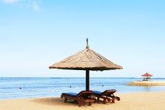 Gazebo alla bella spiaggia fotografia stock libera da diritti