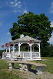 Gazebo With American Flags Stock Image
