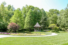 Free Gazebo And Bridge In Green Public Garden Royalty Free Stock Photography - 57435537