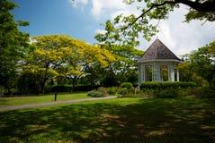 Gazebo au jardin botanique de Singapour Images libres de droits