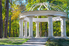 Gazebo in autumn park. Beautiful gazebo in autumn park Stock Photos
