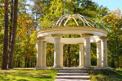 Gazebo in autumn park. Beautiful gazebo in autumn park Stock Photography