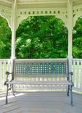 Gazebo ławka Fotografia Stock