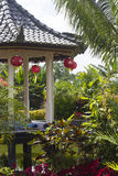 Gazebo in Bali royalty-vrije stock afbeelding