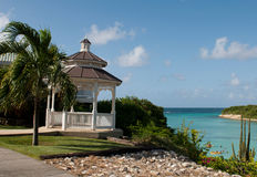 Gazebo and beach Stock Photography