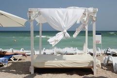 Gazebo on the beach - canopy Stock Photo