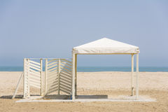 Gazebo on the beach Royalty Free Stock Photography