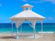 Gazebo on the beach. Royalty Free Stock Image