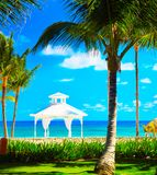 Gazebo on the beach Royalty Free Stock Images