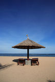 Gazebo at Beautiful Beach Royalty Free Stock Photography