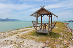 Gazebo on beautiful beach in Samui Royalty Free Stock Image