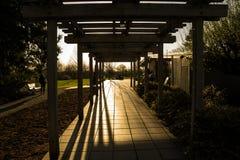 Gazebo bei Sonnenaufgang Lizenzfreie Stockfotografie