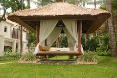 Gazebo bij een Toevlucht in Bali Stock Foto's