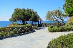 Gazebo bij Heisler-Park, Laguna Beach, Californië o Royalty-vrije Stock Afbeeldingen
