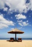 Gazebo bij Mooi Strand Royalty-vrije Stock Afbeeldingen