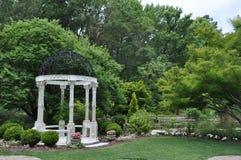 Gazebo bij Wilmington-Arboretum Stock Fotografie