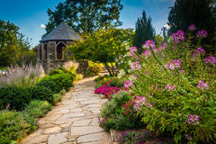 Gazebo in the Bishop's Garden at the Washington National Cathedr Royalty Free Stock Photography