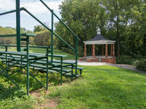 Gazebo with Bleachers Stock Images