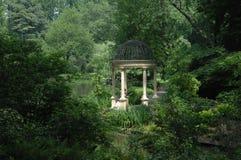 Gazebo bonito em jardins de Longwood Foto de Stock Royalty Free