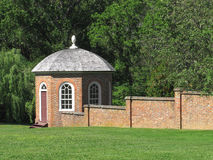 Gazebo and brick wall Royalty Free Stock Photos