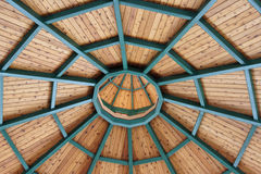 Gazebo ceiling Stock Photography