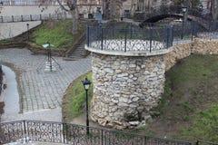 Gazebo in the city park stock image