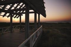 Gazebo at coast. Stock Image