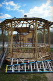 Gazebo Construction Royalty Free Stock Photography