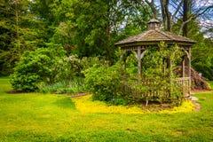 Gazebo at Cylburn Arboretum, in Baltimore, Maryland. Stock Photo