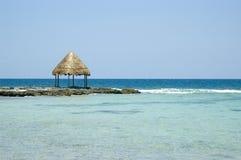 Gazebo da praia Fotos de Stock Royalty Free