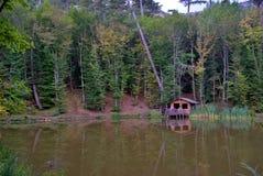 Gazebo dal lago Fotografia Stock