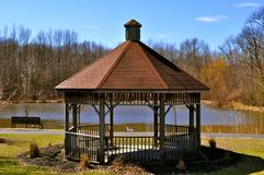 Gazebo de printemps du New Jersey Images libres de droits