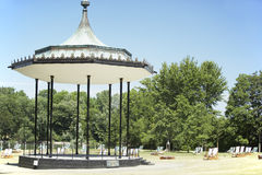 Gazebo And Deck Chairs In Hyde Park, London Royalty Free Stock Photography