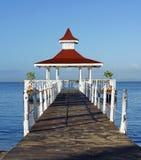 Gazebo del Caribe fotos de archivo