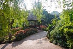 Gazebo del giardino botanico Fotografia Stock Libera da Diritti