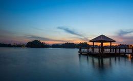 Gazebo dell'acqua e tramonto VIII Immagine Stock Libera da Diritti