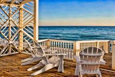 Gazebo della spiaggia Fotografie Stock